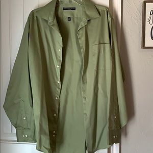 Green men's dress shirt